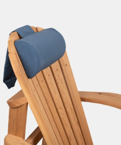 Blå nakkepute til utemøbler