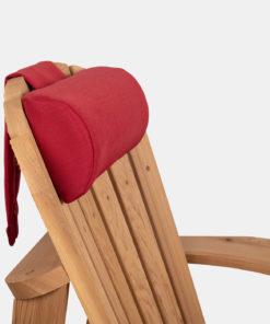 Rød nakkepute til utemøbler