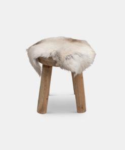Utekrakk med sitterunderlag i reinsdyrskinn