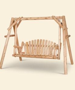 Svingbenk laget i treverk